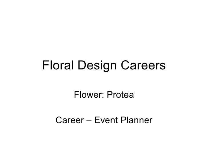 Floral Design Careers Flower: Protea Career – Event Planner