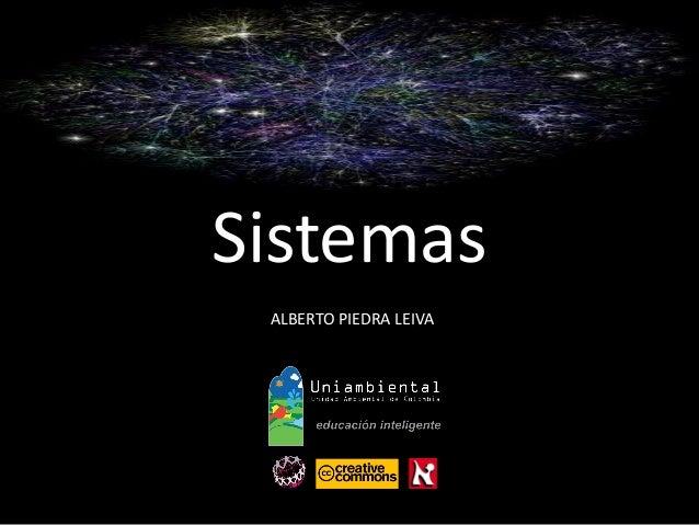 Sistemas  ALBERTO PIEDRA LEIVA