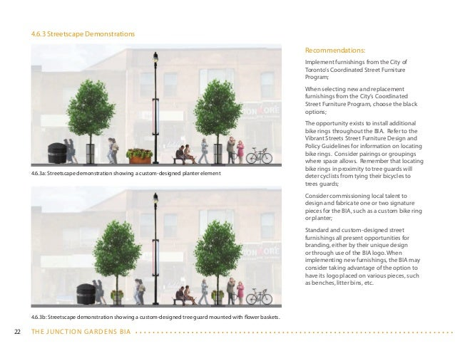 Street Furniture Design Guidelines the junction bia streetscape master plan vision document