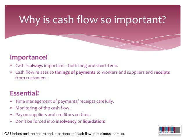 why is comprehending and managing cash flow important for financial success Kaplan mt499 unit 7 and unit 8 discussions question please discuss why comprehending and managing cash flow is important for bravoessays.