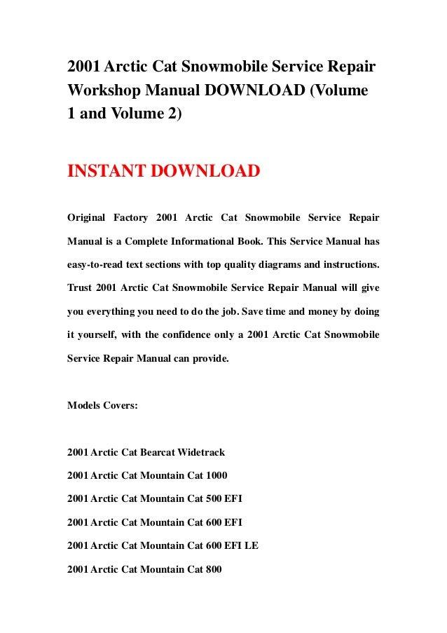2000 arctic cat snowmobile repair manual pdf