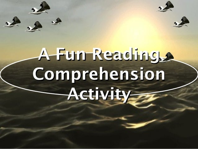 A Fun ReadingComprehension   Activity