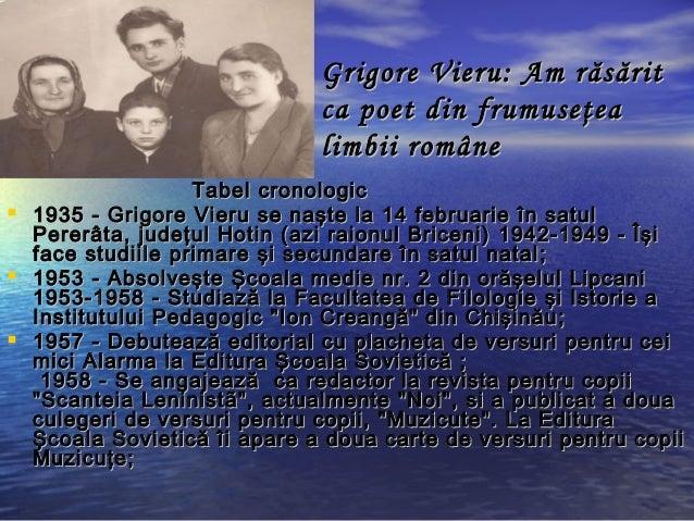 Grigore Vieru - Poet al neamului Slide 2