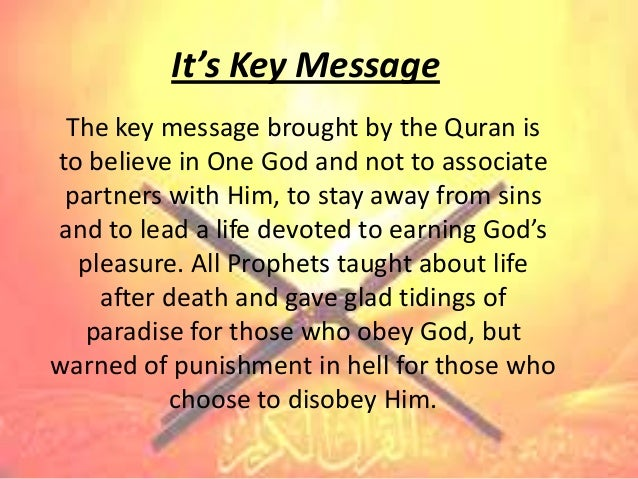 Essay on quran majeed in english