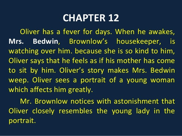 oliver twist summary short