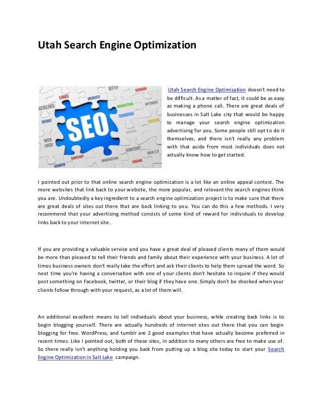 Utah Search Engine Optimization                                                        Utah Search Engine Optimization doe...