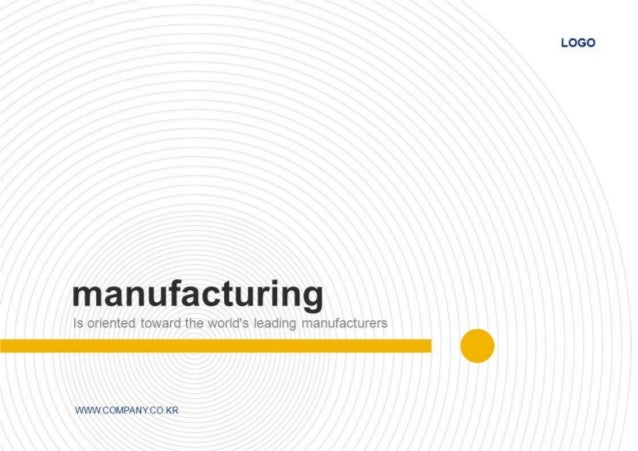 Manufacturing, fittings, bolts, screws PPT Template(부품