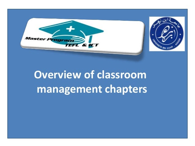 Overview of classroommanagement chapters