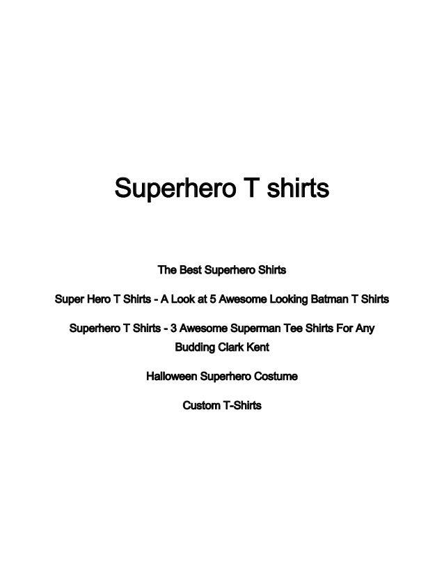 Superhero T shirtsThe Best Superhero ShirtsSuper Hero T Shirts - A Look at 5 Awesome Looking Batman T ShirtsSuperhero T Sh...