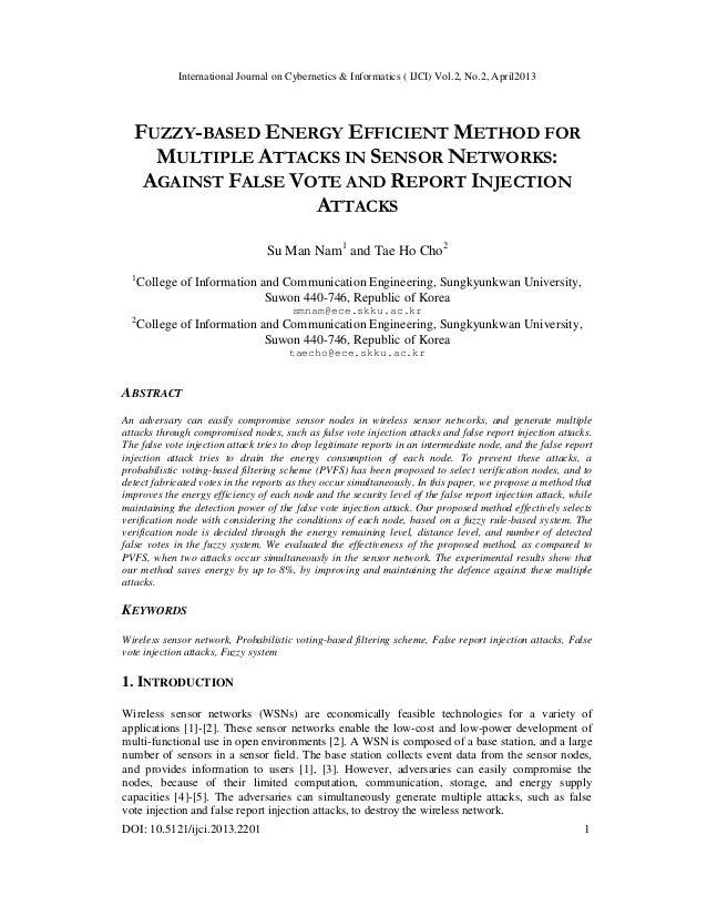 International Journal on Cybernetics & Informatics ( IJCI) Vol.2, No.2, April2013DOI: 10.5121/ijci.2013.2201 1FUZZY-BASED ...