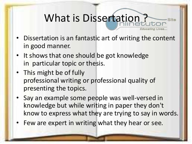 what is an dissertation