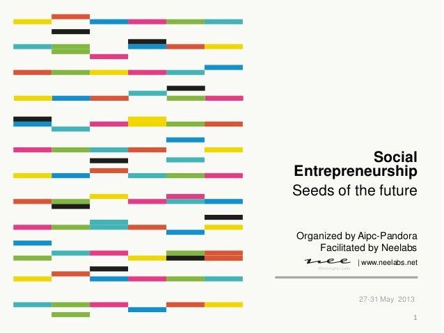 Seeds of the future27-31 May 2013SocialEntrepreneurshipOrganized by Aipc-PandoraFacilitated by Neelabs| www.neelabs.net1