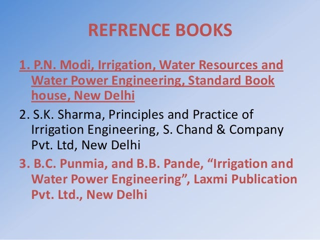 Irrigation And Water Power Engineering By Punmia Pdf