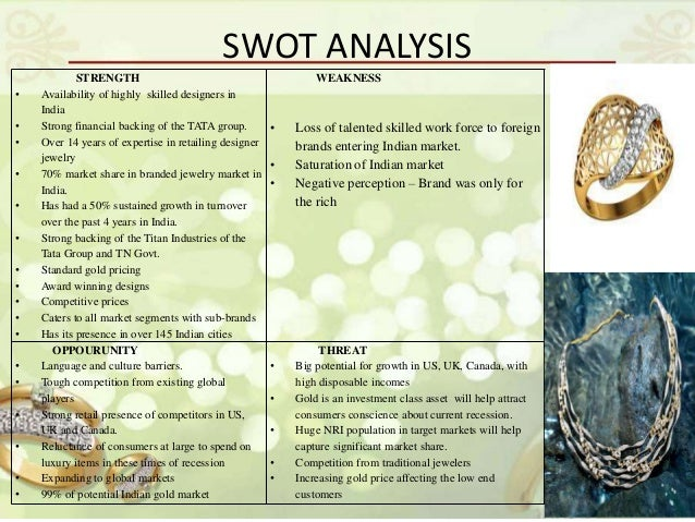 swot analysis of jewelry business It's not necessary to hire an expert to do a swot analysis for your business, you can quite easily do it yourself after checking out a few swot analysis examples online.