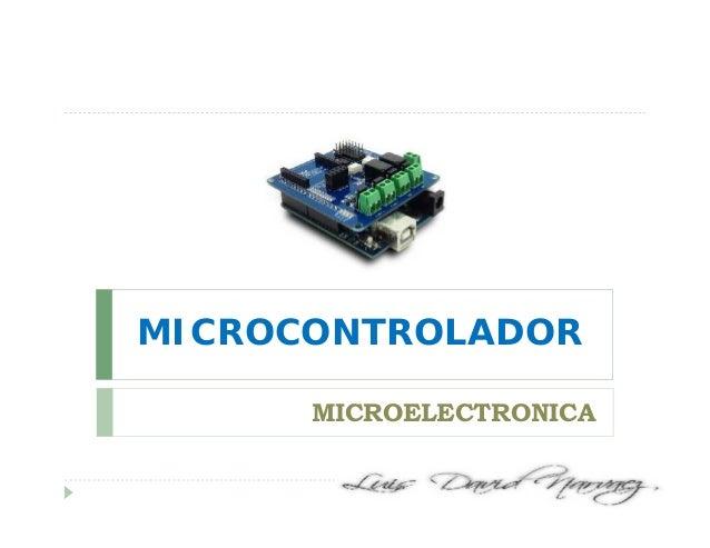 MICROCONTROLADOR MICROELECTRONICA