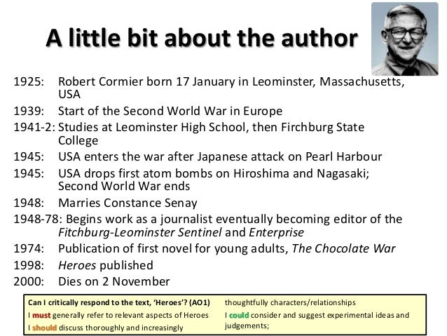 An analysis of the characters in the novel the chocolate war by robert comier
