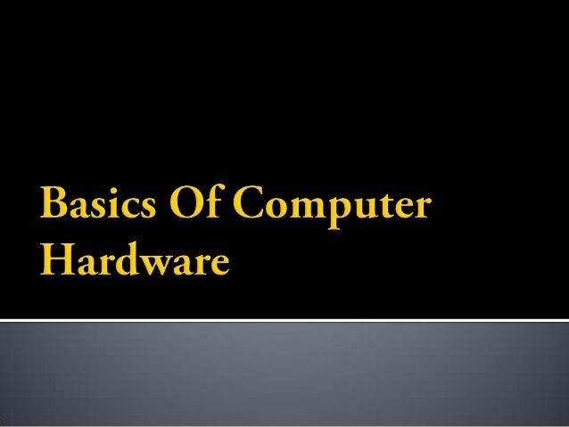 01. Basics of Computer Hardware