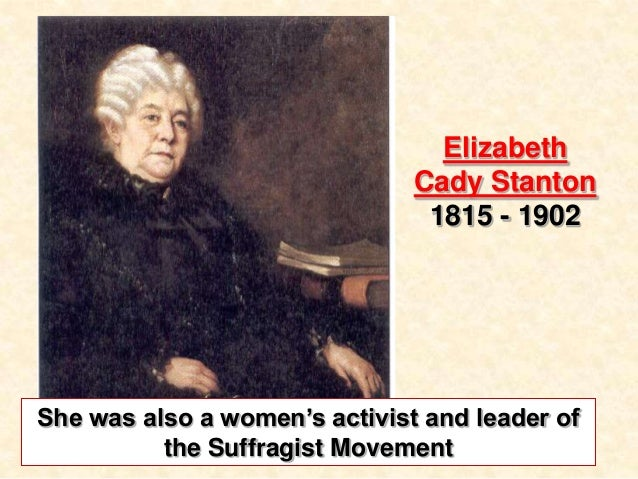 As I See It: Elizabeth Cady Stanton and the Declaration of Rights and Sentiments