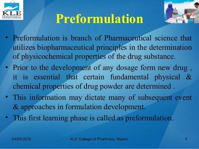 Physical Properties Of Preformulation
