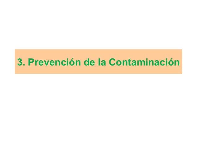 3. Prevención de la Contaminación