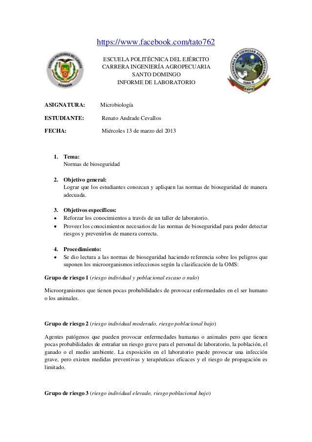 https://www.facebook.com/tato762 ESCUELA POLITÉCNICA DEL EJÉRCITO CARRERA INGENIERÍA AGROPECUARIA SANTO DOMINGO INFORME DE...