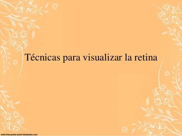 Técnicas para visualizar la retina