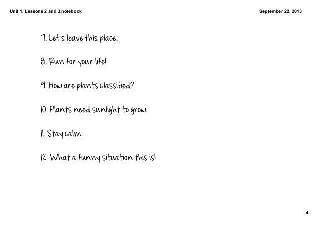 4. Building Sentences Flowers and Plants