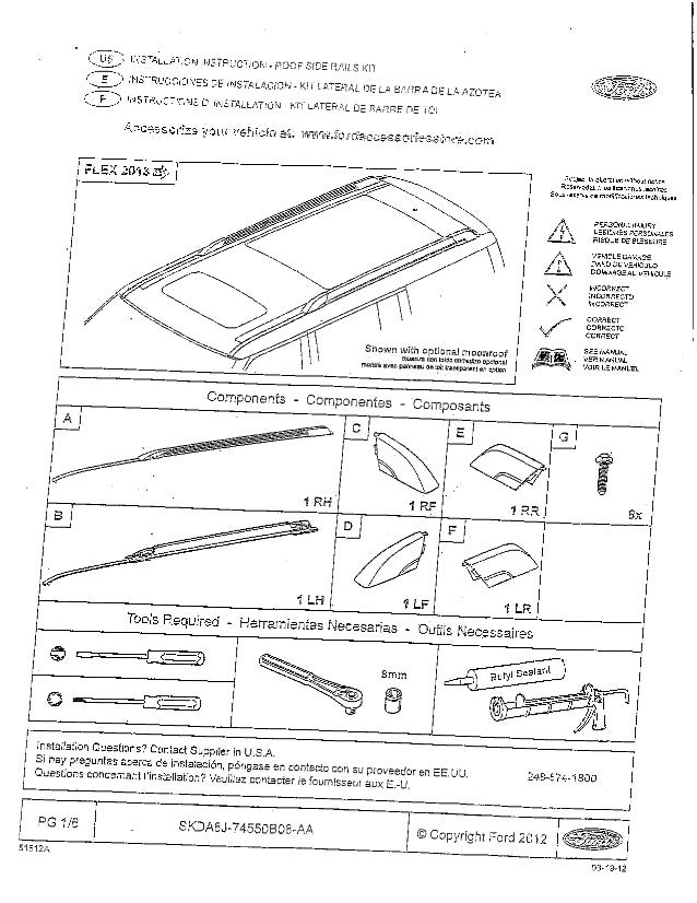 FORD FLEX OEM ROOF RACK INSTALLATION PAGE 1