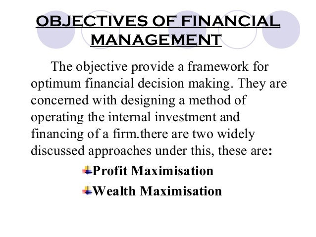 Management Team Members' Objectives