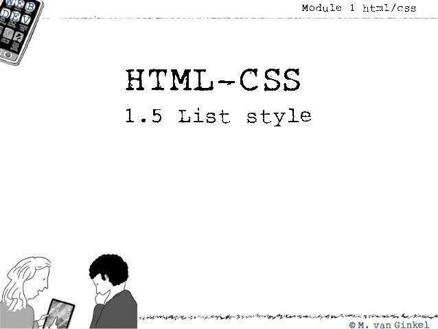 1.5 list style
