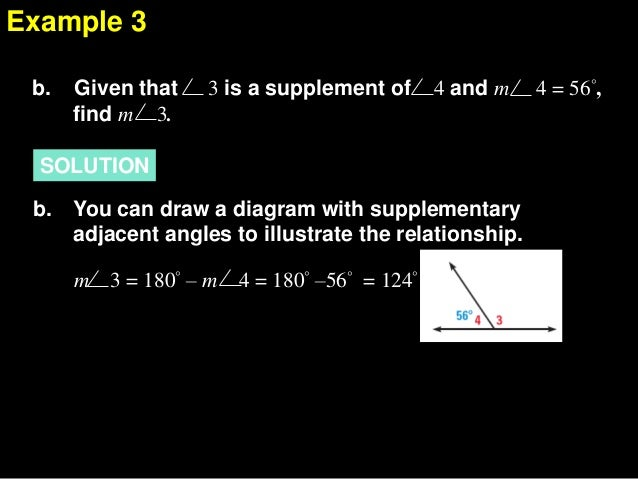 1.5 describe angle pair relationshipsA Pair Of Adjacent Angles In Sports