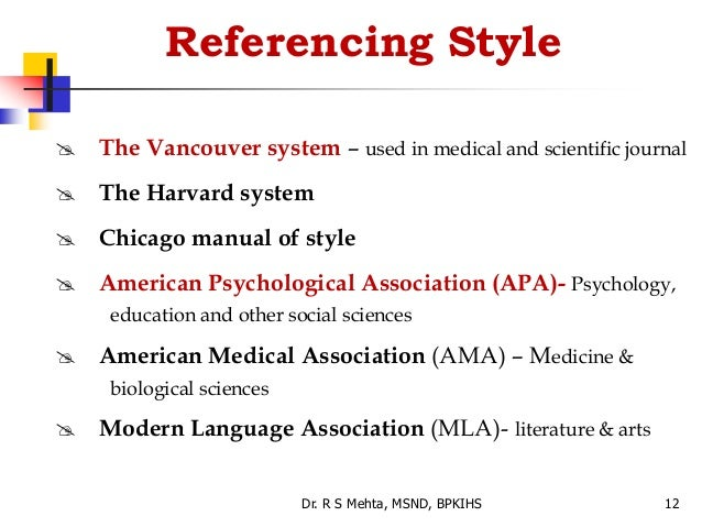 referencing styles in writing Referencing all information the different styles of referencing this referencing style can be confusing and tutors often feel more experience in writing.