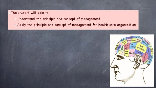 The student will able to Understand the principle and concept of management Apply the principle and concept of management ...
