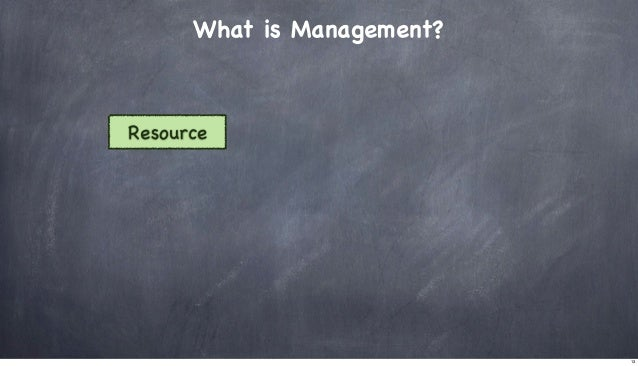 What is Management?  Resource  13