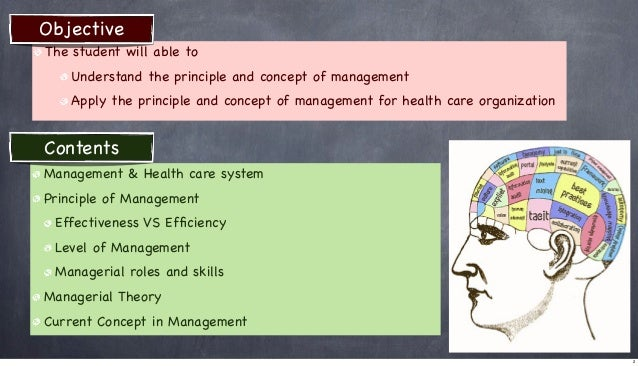 Objective The student will able to Understand the principle and concept of management Apply the principle and concept of m...