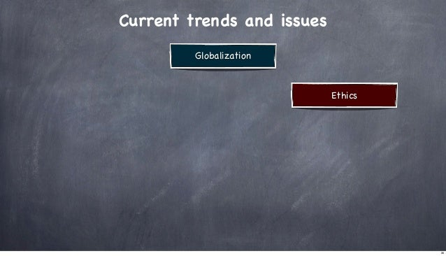 Current trends and issues Globalization  Ethics  35