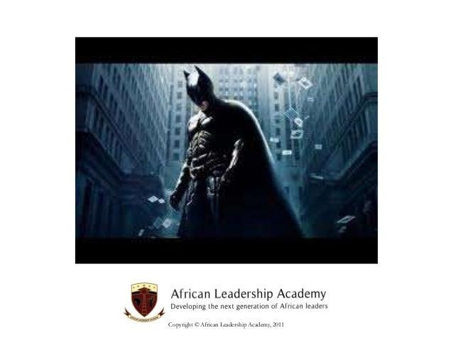 Copyright © African Leadership Academy, 2011