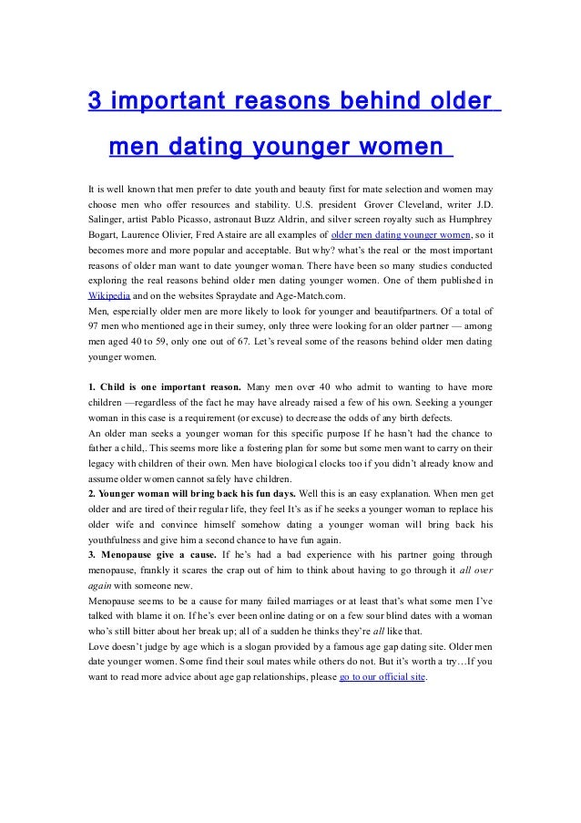 how to deal with dating a younger man