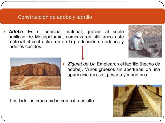 1 historia de los materiales mesopotamia egipto for Construccion de piscinas con ladrillos