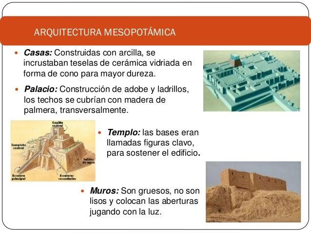 1 historia de los materiales mesopotamia egipto Cuantas materias tiene arquitectura