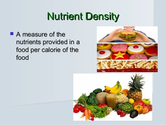 how to find nutrient density