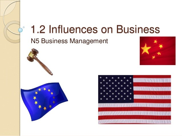 1.2 Influences on Business N5 Business Management