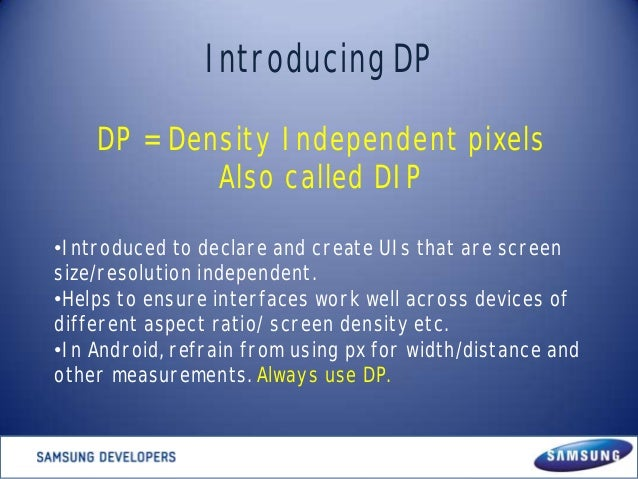 Developing and Designing Multiscreen Android apps Slide 2