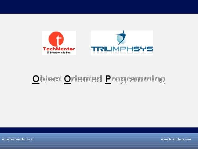 www.techmentor.co.in  www.triumphsys.com
