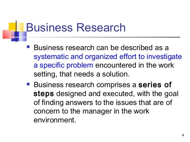 introduction to business research slideshare