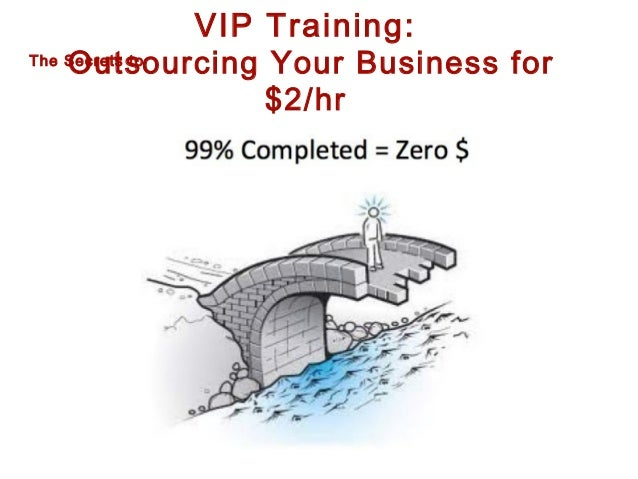 VIP Training:  Outsourcing Your Business for $2/hr  The Secrets to
