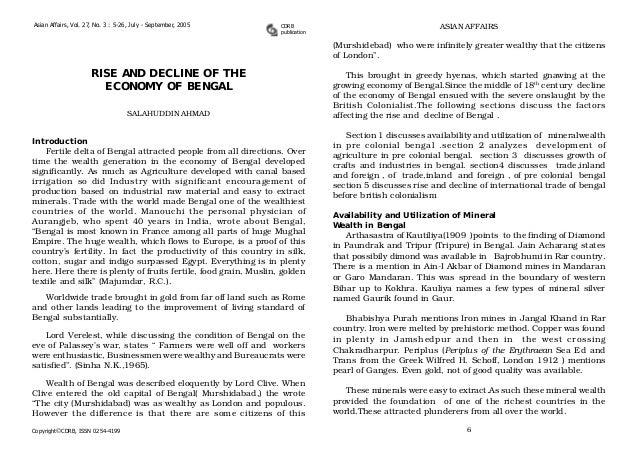 Asian Affairs, Vol. 27, No. 3 : 5-26, July - September, 2005  CDRB publication  ASIAN AFFAIRS  (Murshidebad) who were infi...