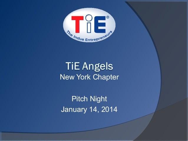 New York Chapter Pitch Night January 14, 2014