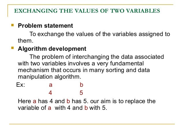 Problem Solving Aspect of Swapping Two Integers using a Temporary Var…