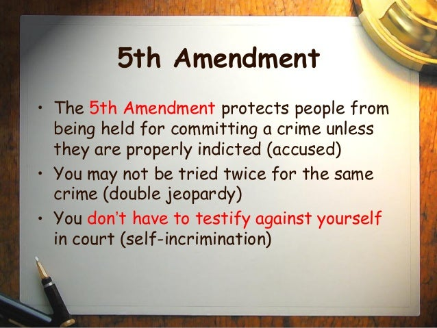 fifth amendment essay Vol 111, no 1 275 online essay the death penalty and the fifth amendment a the fifth amendment contains prohibitions, not powers.
